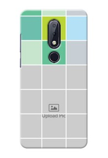 Nokia 6.1 Plus personalised phone covers with white box pattern