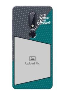 Nokia 6.1 Plus Back Covers: Background Pattern Design with Quote