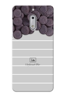 Nokia 6 oreo biscuit pattern with white stripes Design Design