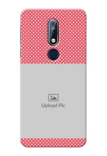 Nokia 7.1 Custom Mobile Case with White Dotted Design