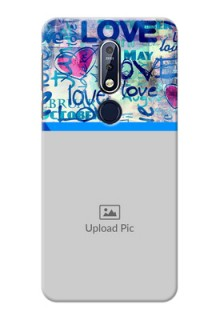 Nokia 7.1 Mobile Covers Online: Colorful Love Design
