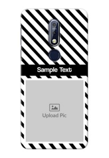 Nokia 7.1 Back Covers: Black And White Stripes Design