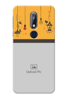 Nokia 7.1 custom back covers with Family Picture and Icons