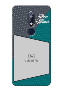 Nokia 7.1 Back Covers: Background Pattern Design with Quote