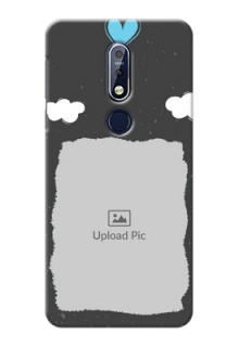 Nokia 7.1 Mobile Back Covers: splashes with love doodles Design