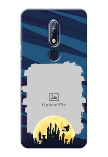 Nokia 7.1 Back Covers: Halloween Witch Design