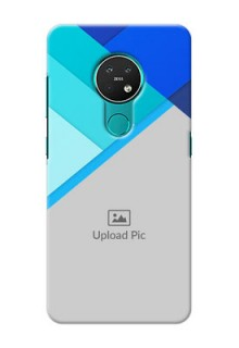 Nokia 7.2 Phone Cases Online: Blue Abstract Cover Design