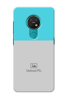 Nokia 7.2 Personalized Mobile Covers: Simple Blue Color Design