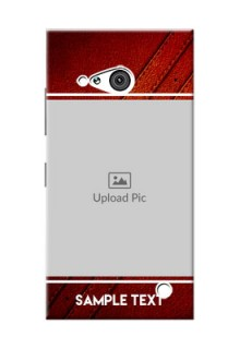 Nokia 730 Leather Design Picture Upload Mobile Case Design