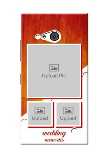 Nokia 730 Wedding Memories Mobile Cover Design