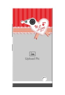 Nokia 730 Red Pattern Mobile Cover Design