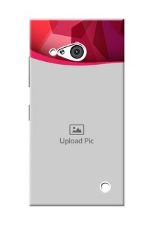 Nokia 730 Red Abstract Mobile Case Design