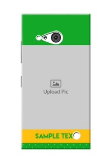Nokia 730 Green And Yellow Pattern Mobile Cover Design