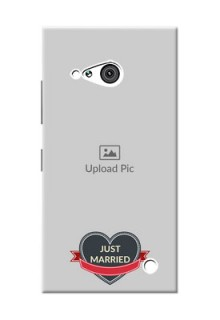 Nokia 730 Just Married Mobile Cover Design