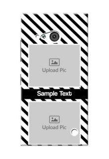 Nokia 730 2 image holder with black and white stripes Design