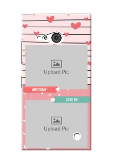 Nokia 730 2 image holder with hearts Design