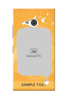 Nokia 730 watercolour design with bird icons and sample text Design Design