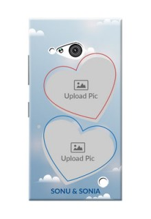 Nokia 730 couple heart frames with sky backdrop Design