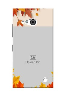 Nokia 730 autumn maple leaves backdrop Design