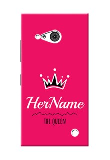 Nokia 730 Queen Phone Case with Name