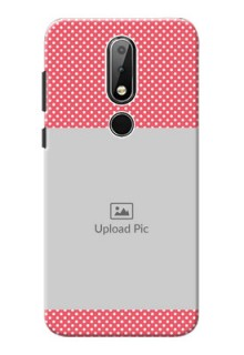 Nokia X6 Custom Mobile Case with White Dotted Design