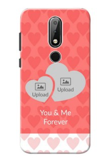 Nokia X6 personalized phone covers: Couple Pic Upload Design