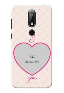 Nokia X6 Personalized Mobile Covers: Heart Shape Design