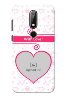 Nokia X6 Personalized Phone Cases: Heart Shape Love Design