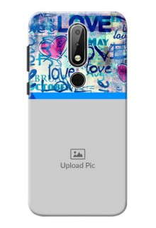 Nokia X6 Mobile Covers Online: Colorful Love Design