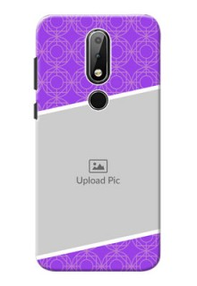 Nokia X6 mobile back covers online: violet Pattern Design