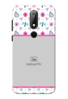 Nokia X6 Mobile Covers: Colorful Flower Design