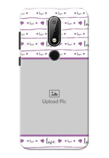 Nokia X6 Mobile Back Covers: Couples Heart Design