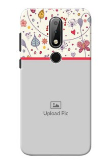 Nokia X6 phone back covers: Premium Floral Design