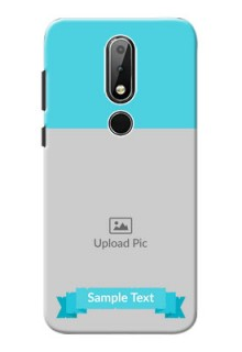 Nokia X6 Personalized Mobile Covers: Simple Blue Color Design
