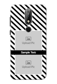 Nokia X6 Back Covers: Black And White Stripes Design