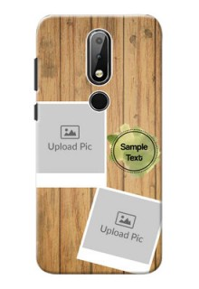 Nokia X6 Custom Mobile Phone Covers: Wooden Texture Design