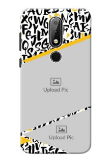 Nokia X6 Phone Back Covers: Letters Pattern Design