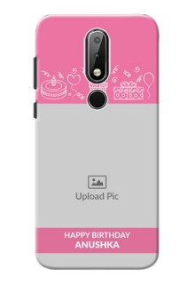 Nokia X6 Custom Mobile Cover with Birthday Line Art Design