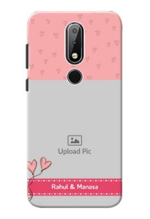 Nokia X6 phone back covers: Love Design Peach Color