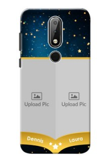 Nokia X6 Mobile Covers Online: Galaxy Stars Backdrop Design