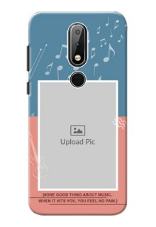 Nokia X6 Phone Back Covers with Color Musical Note Design