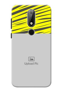 Nokia X6 Personalised mobile covers: Yellow Abstract Design