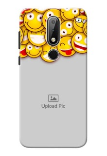 Nokia X6 Custom Phone Cases with Smiley Emoji Design