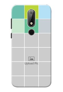 Nokia X6 personalised phone covers with white box pattern