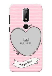 Nokia X6 custom mobile phone covers: Vintage Heart Design