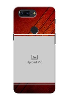 One Plus 5T Leather Design Picture Upload Mobile Case Design