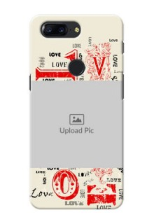 One Plus 5T Lovers Picture Upload Mobile Case Design