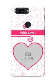 One Plus 5T Pink Colour Mobile Case Design