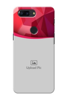 One Plus 5T Red Abstract Mobile Case Design