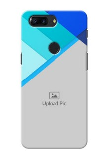 One Plus 5T Blue Abstract Mobile Cover Design